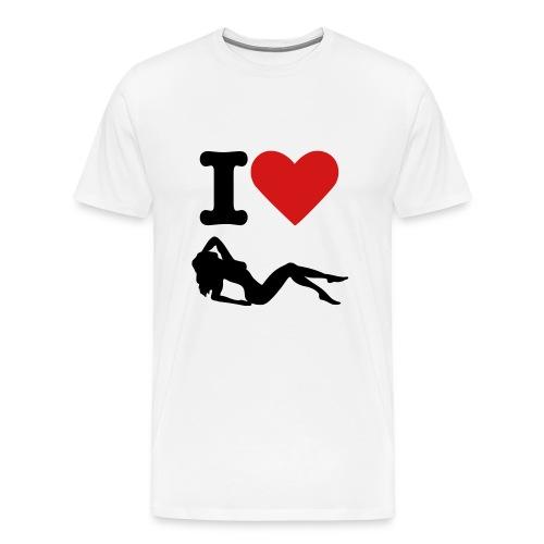I love women - Men's Premium T-Shirt