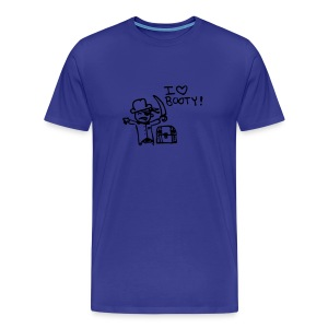 I Love Booty - Blue - Men's Premium T-Shirt