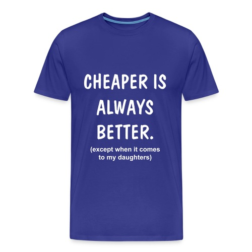 Cheapskate blue - Men's Premium T-Shirt