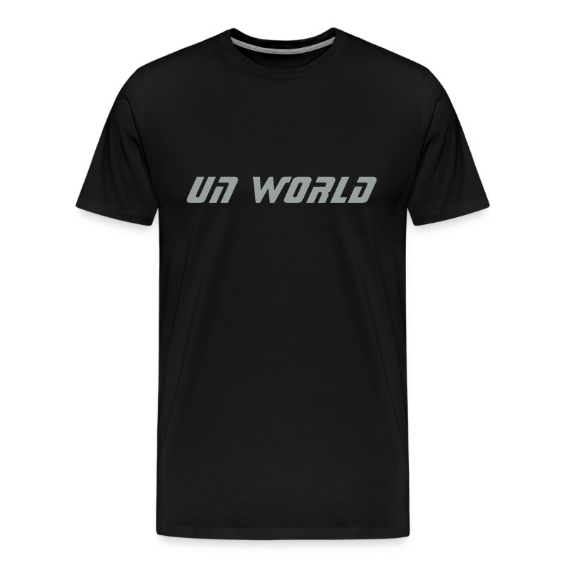Un World (Black/Silver) - Men's Premium T-Shirt