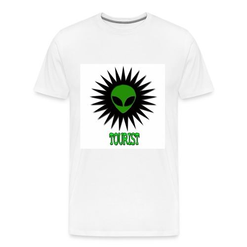 SCHWA (ALIEN HEAD) TOURIST TEE - Men's Premium T-Shirt