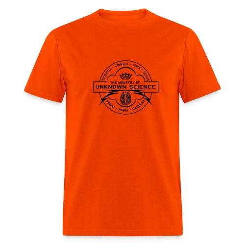 MOUS Logo Orange T (Fuzzy logo) - Men's T-Shirt