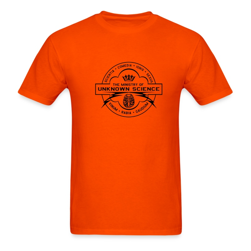 MOUS Logo Orange T (Fuzzy logo) - Men's T-Shirt