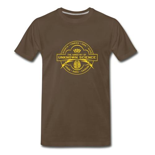 MOUS Logo Black T (Fuzzy logo) - Men's Premium T-Shirt