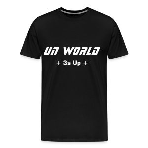 3s Up (Black/White) - Men's Premium T-Shirt