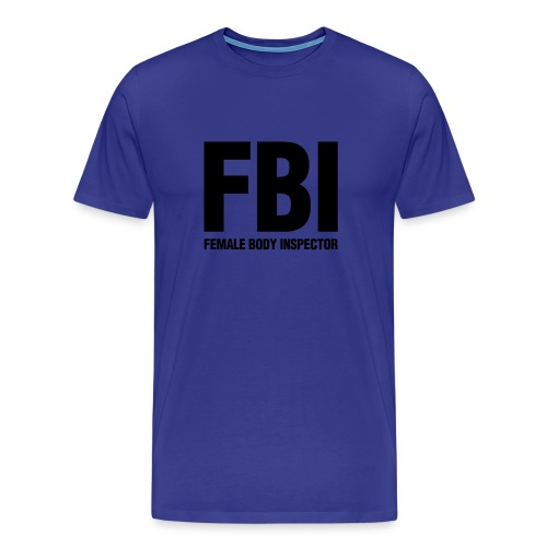 fbi blue - Men's Premium T-Shirt