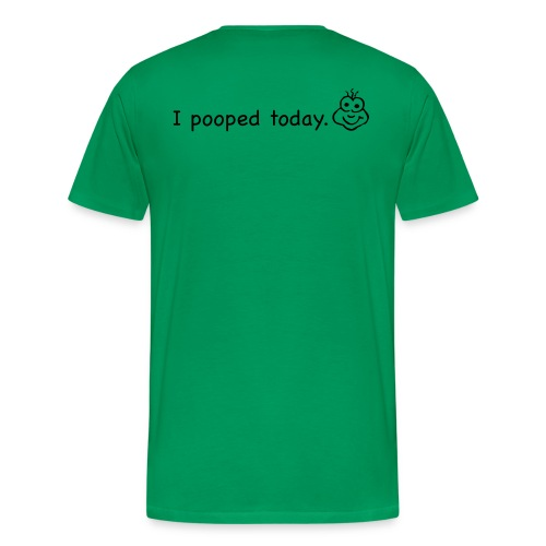 can't/can poop - Men's Premium T-Shirt