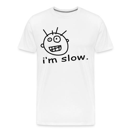 slow white - Men's Premium T-Shirt