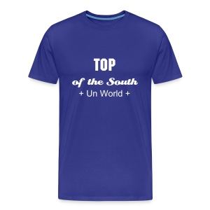 Top of the South (Blue/White) - Men's Premium T-Shirt