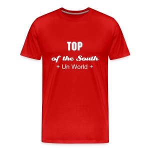 Top of the South (Red/White) - Men's Premium T-Shirt