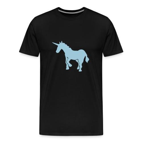Unicorn on black t-shirt - Men's Premium T-Shirt