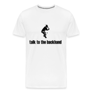 T-Shirts ~ Men's Premium T-Shirt ~ Backhand (white)