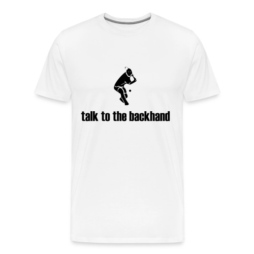 Backhand (white) - Men's Premium T-Shirt