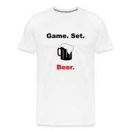 T-Shirts ~ Men's Premium T-Shirt ~ Game. Set. Beer. Mug (white)