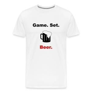 Game. Set. Beer. Mug (white) - Men's Premium T-Shirt
