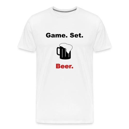 Game. Set. Beer. Mug (white) - Men's Premium T-Shirt