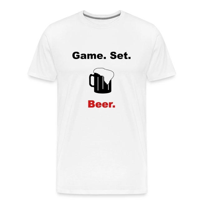 Game. Set. Beer. Mug (white)