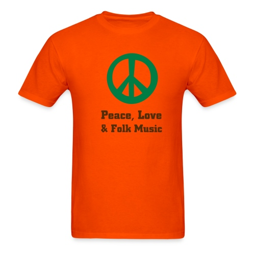 Peace Love & Folk Music - Men's T-Shirt