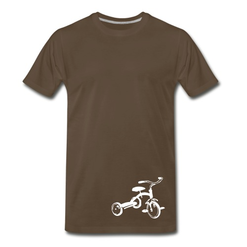 Lonely - Chocolate/White - Men's Premium T-Shirt