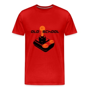 Old School Tee (Red) - Men's Premium T-Shirt