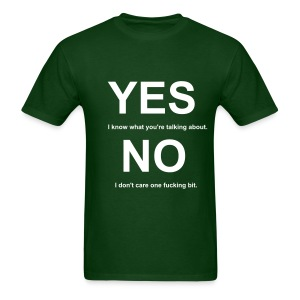 Yes and No Tee (Green) - Men's T-Shirt