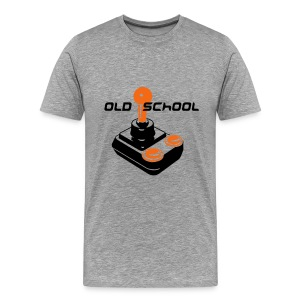 Old School Tee (Ash) - Men's Premium T-Shirt