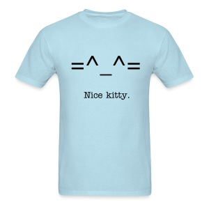Nice Kitty Tee (Sky) - Men's T-Shirt