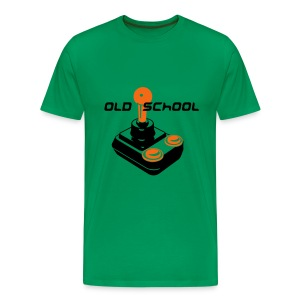 Old School Tee (Green) - Men's Premium T-Shirt