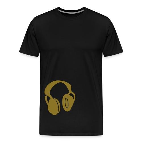 Headphone Gold - Men's Premium T-Shirt