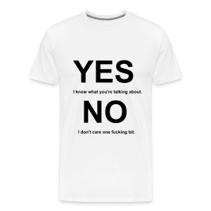 Yes and No Tee (White) - Men's Premium T-Shirt
