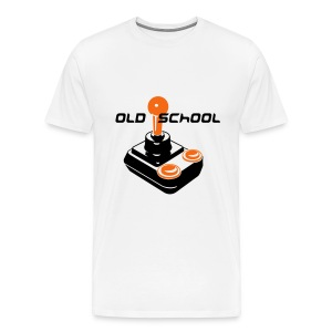 Old School Tee (White) - Men's Premium T-Shirt