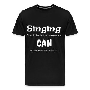 Singing Tee (Black) - Men's Premium T-Shirt
