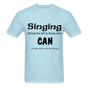 Singing Tee (Sky) - Men's T-Shirt