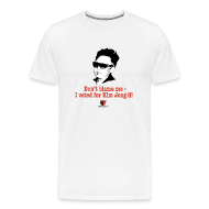 T-Shirts ~ Men's Premium T-Shirt ~ Don't blame me - I voted for Kim Jung-il