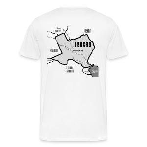 IRAXES - Where am I? - white - Men's Premium T-Shirt