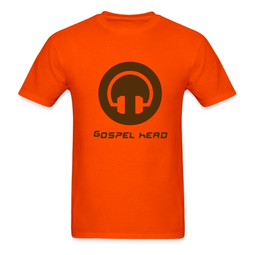 Gospel Head-Orange/Chocolate - Men's T-Shirt
