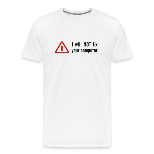 'Tech Nerds Fight Back' Mens T-shirt (Black/Red on White) - Men's Premium T-Shirt