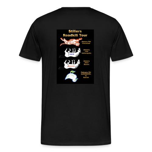Bus logo , Roadkill on back - Men's Premium T-Shirt