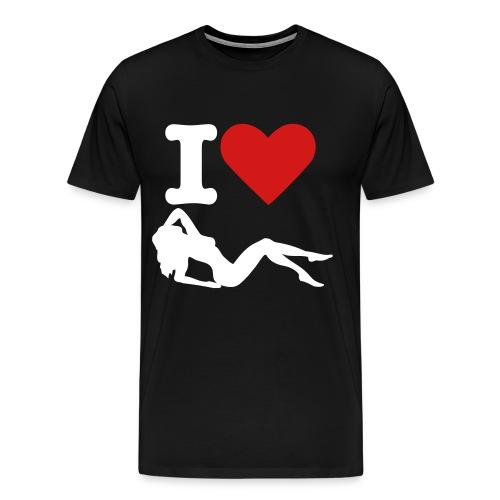 I heart sluts - Men's Premium T-Shirt