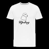T-Shirts ~ Men's Premium T-Shirt ~ Men's White Updog