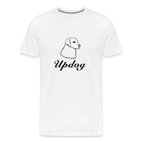 Men's White Updog - Men's Premium T-Shirt