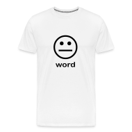 T-Shirts ~ Men's Premium T-Shirt ~ Word (white)