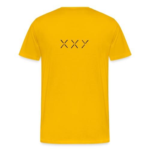 XXY Heavyweight cotton T-Shirt Yellow - Men's Premium T-Shirt