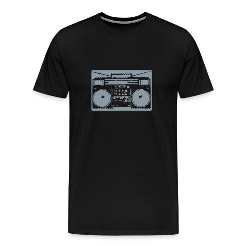 Boom Box (Black Men's Tee) - Men's Premium T-Shirt