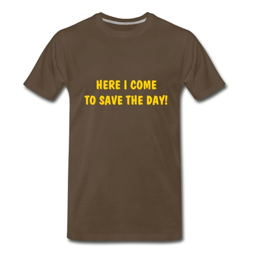 Mighty Mouse - Here I come to save the day! - Men's Premium T-Shirt