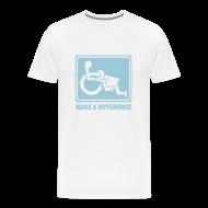 T-Shirts ~ Men's Premium T-Shirt ~ Make a Difference (white)