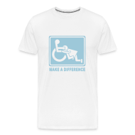 T-Shirts ~ Men's Premium T-Shirt ~ Make a Difference (white)