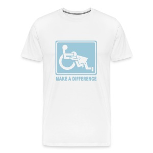 Make a Difference (white) - Men's Premium T-Shirt
