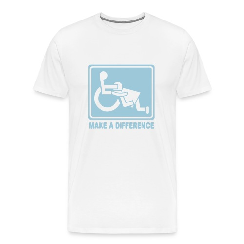 Make a Difference (white) - Men's Premium T-Shirt