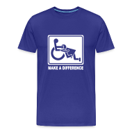 T-Shirts ~ Men's Premium T-Shirt ~ Make a Difference (blue/white)